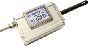 Humidity, material and temperature transmitter LF-TD