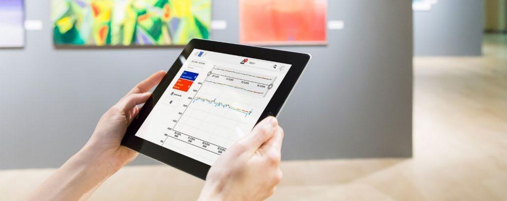 Aranet tablet data logging