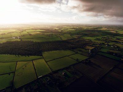overhead view of fields