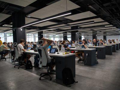 open plan computer area