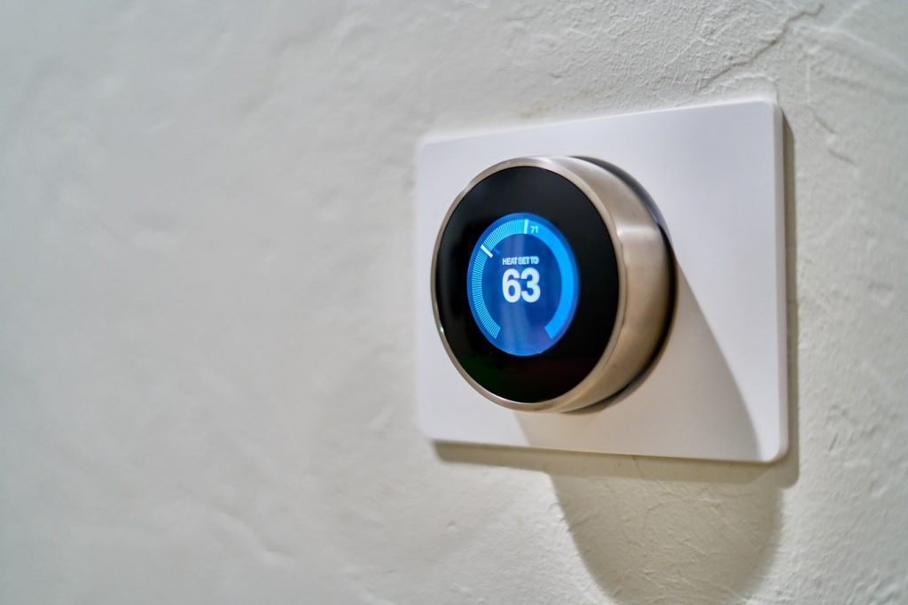 A Nest theromstat that uses IoT for HVAC